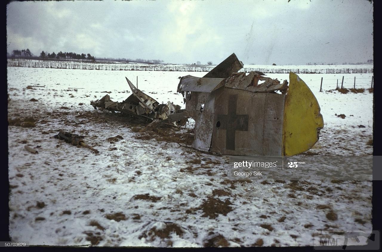 109242 - Сбитый немецкий самолет на опушке Арденнского леса.