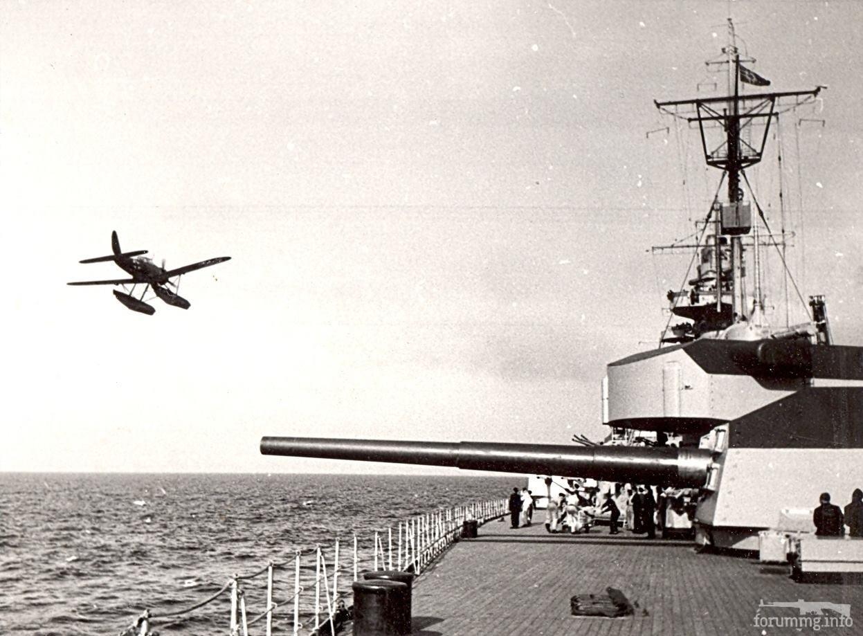113715 - Линкор Tirpitz во время стрельб у острова Рюген, июнь 1941 г.
