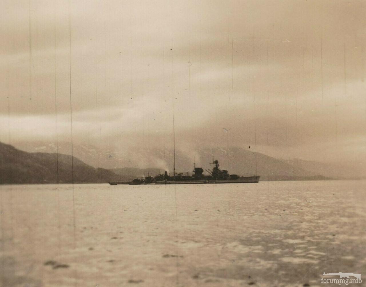 115299 - Легкий крейсер Nürnberg в Норвегии, лето 1940 г.