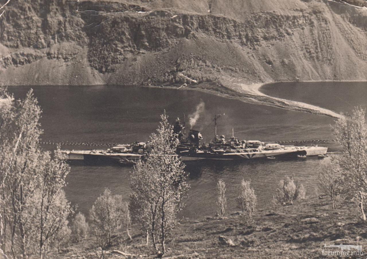 117417 - Линкор Tirpitz в в Каа-фьорде, июнь 1943 г.