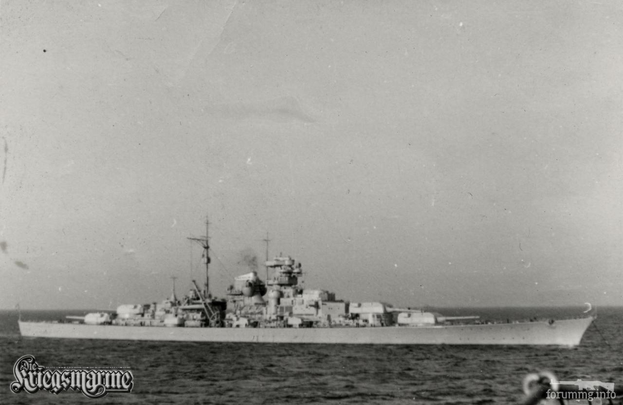 118038 - Линкор Bismarck у Готенхафена, октябрь-ноябрь 1940 г.