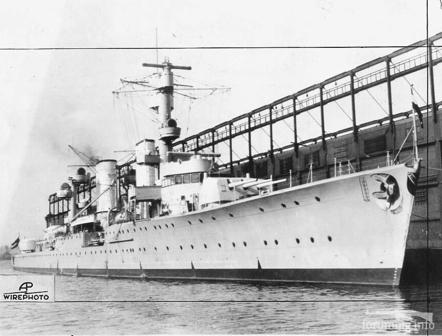 118050 - Легкий крейсер Karlsruhe в Нью-Йорке, ноябрь 1932 г.
