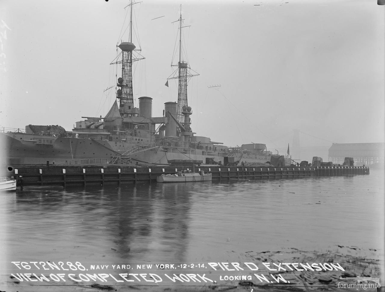 118215 - USS Wyoming (BB-32) на Бруклинской верфи, 2 декабря 1914 г.