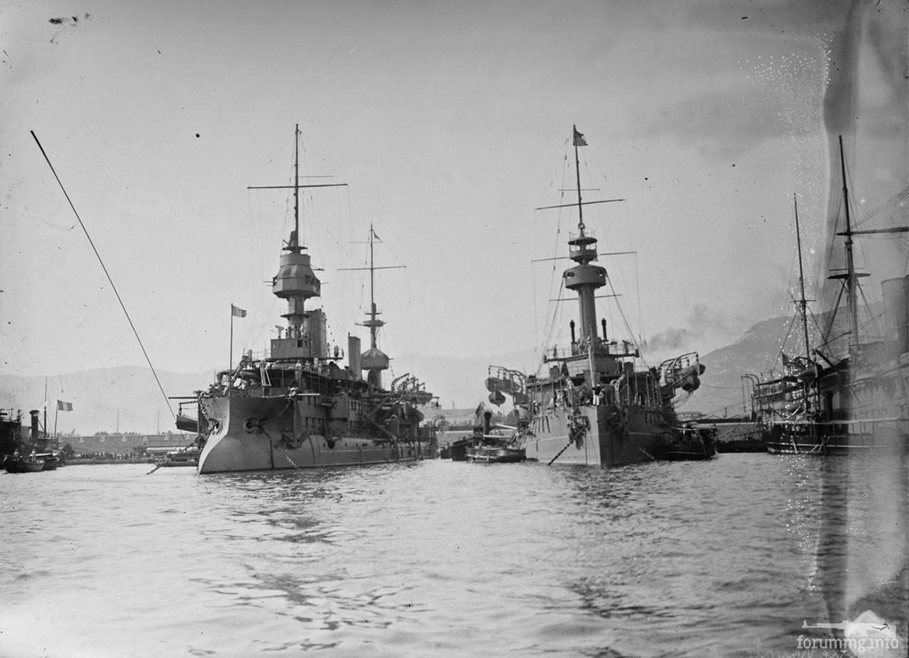 119144 - Броненосцы Massena и Brennus в Тулоне, 4 сентября 1911 г.