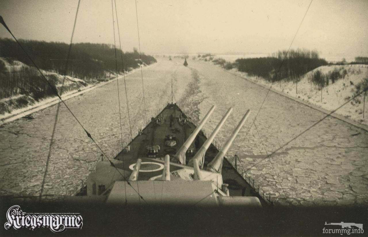 119153 - Линкор Scharnhorst в Кильском канале, зима 1939-40 г.