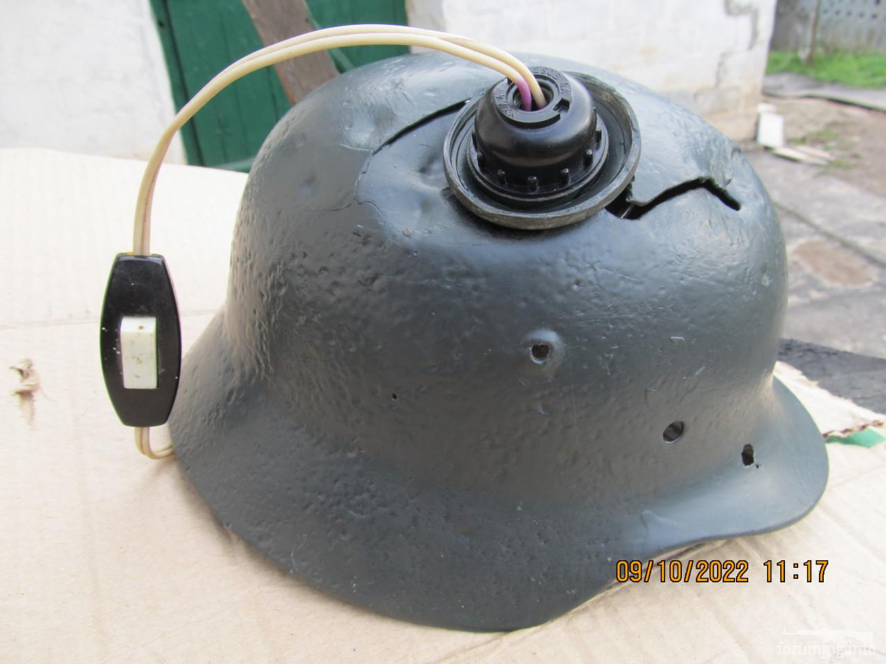 119354 - Настінний світильник з німецької залізної шапки