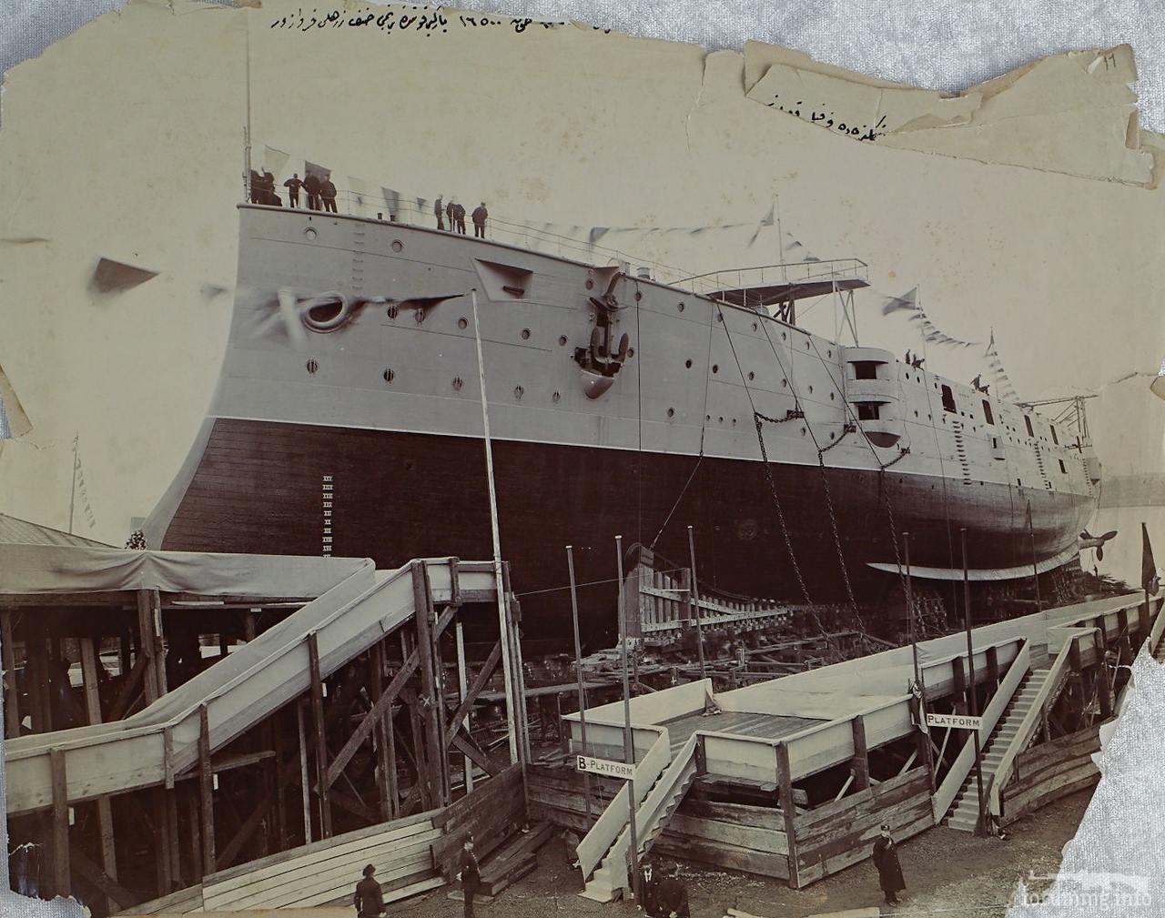 119556 - Спуск на воду крейсера 1-го класса HMS Diadem, 21 октября 1896 г.