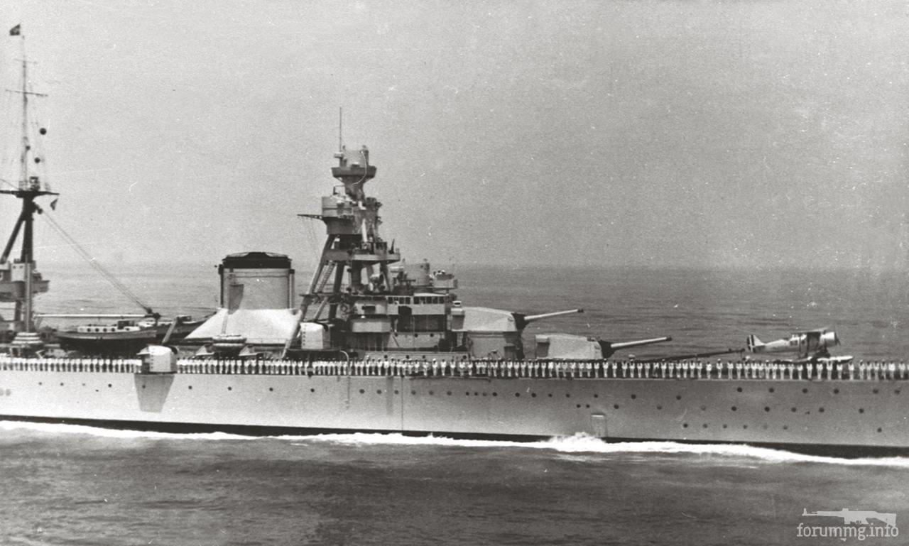 119558 - Тяжелый крейсер Trento на параде, 1938 г.