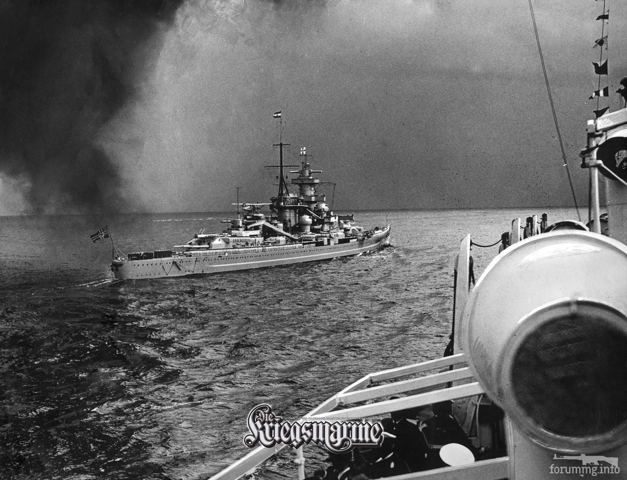 119560 - Линкор Gneisenau на параде в Кильской бухте, 22 августа 1938 г.