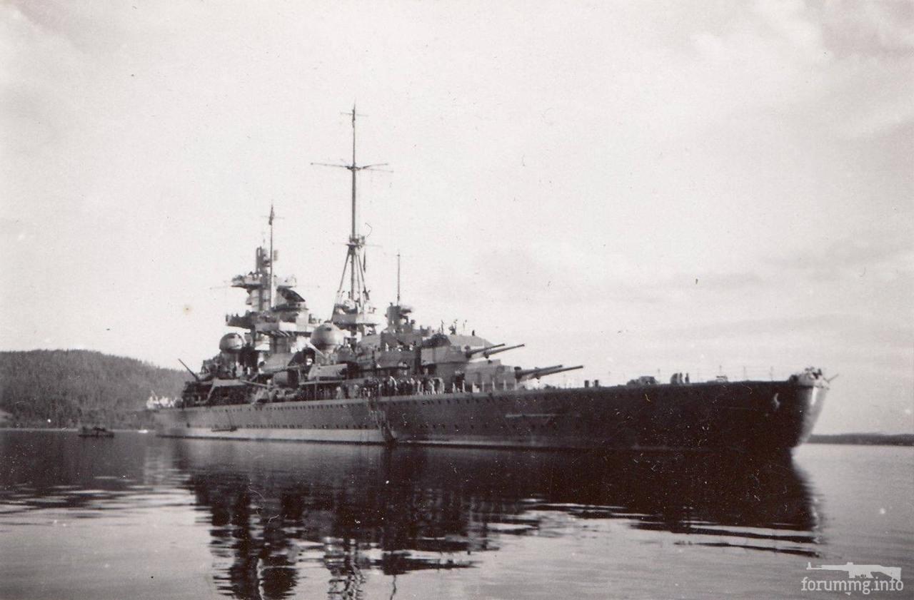 124412 - Тяжелый крейсер Admiral Hipper в Тронхейме, апрель 1940 г.