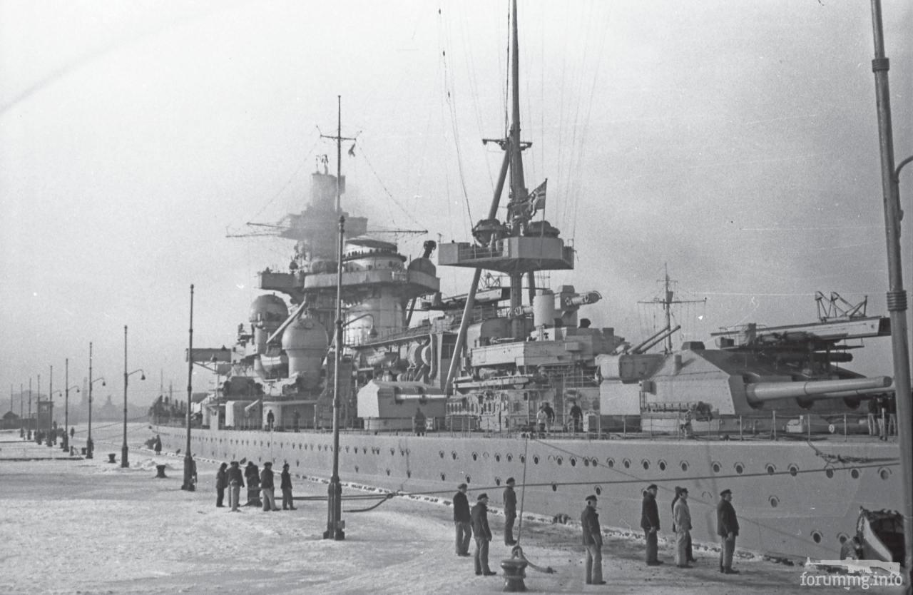 124746 - Линкор Scharnhorst в Вильгельмсхафене, 27 февраля 1940 г.