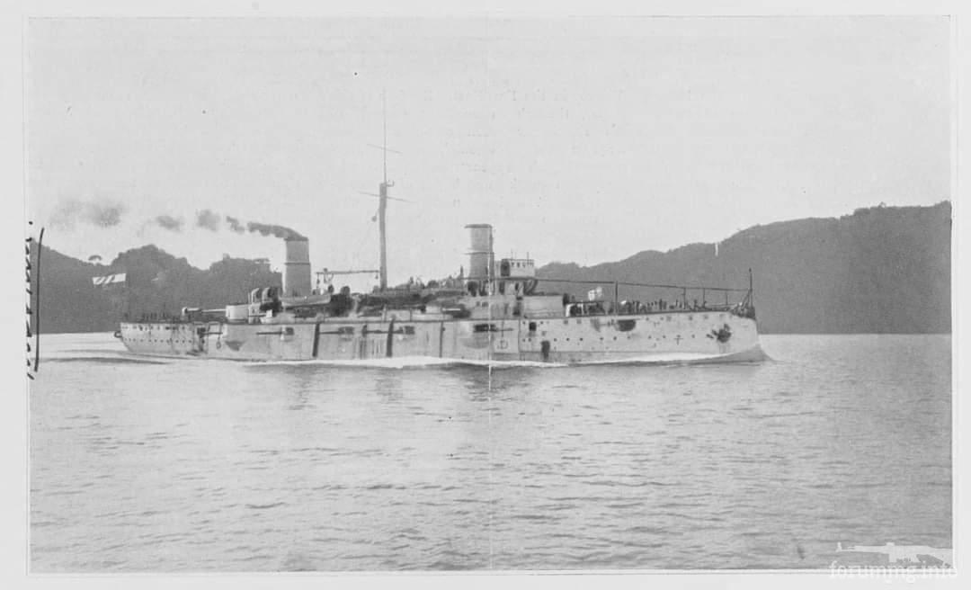 124820 - Аргентинский броненосный крейсер Mariano Moreno на ходовых испытаниях в Италии. Вскоре он будет продан Японии, где будет служить как IJN Nissin.