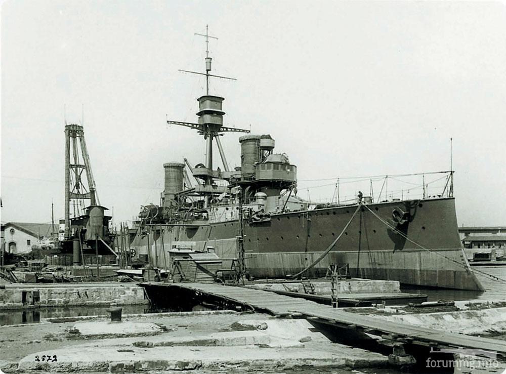 124821 - Аргентинский броненосный крейсер General Belgrano во время модернизации на верфи Odero в Ливорно (Италия), 15 мая 1929 г.