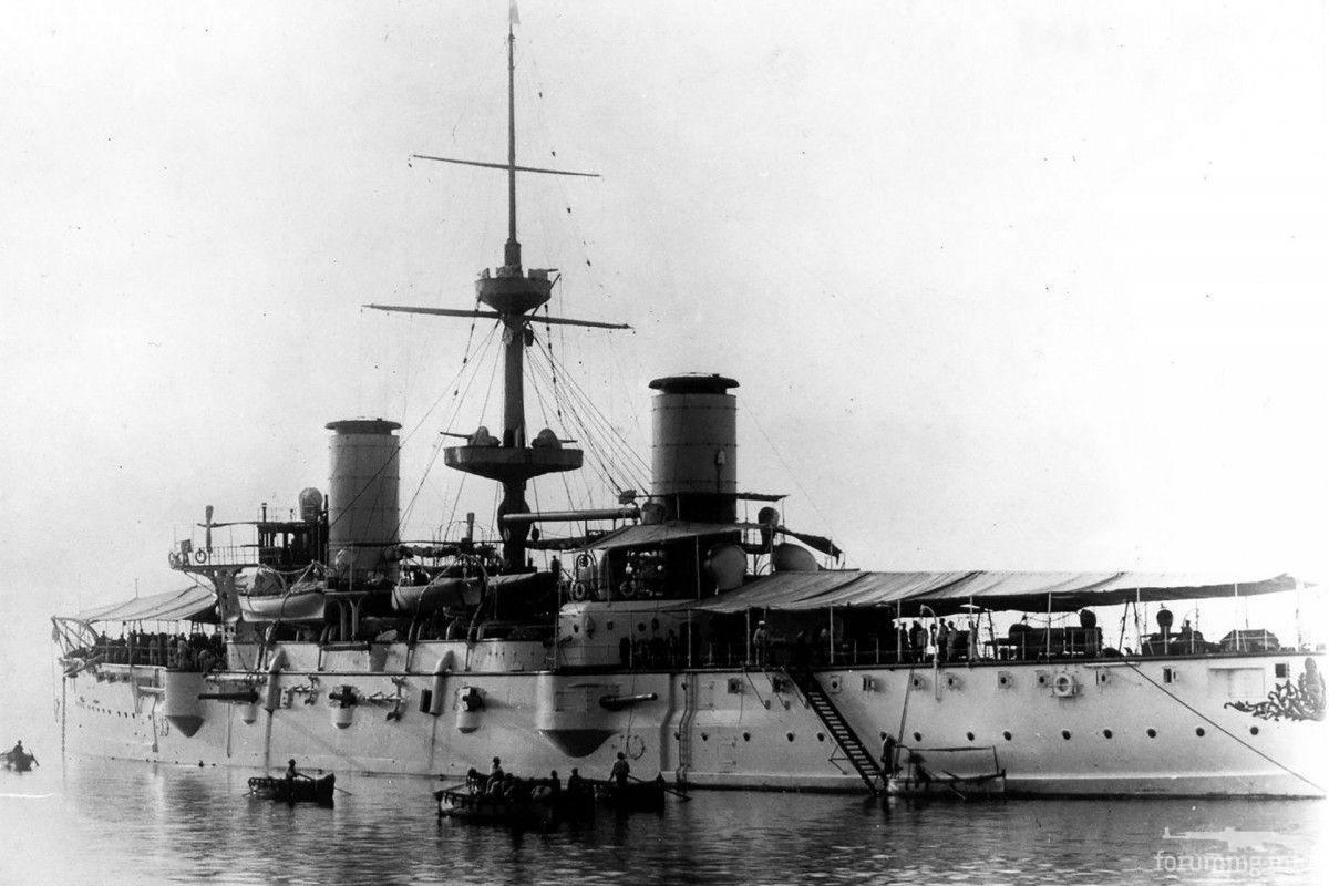 124822 - Аргентинский броненосный крейсер Pueyrredon вскоре после вступления в строй.