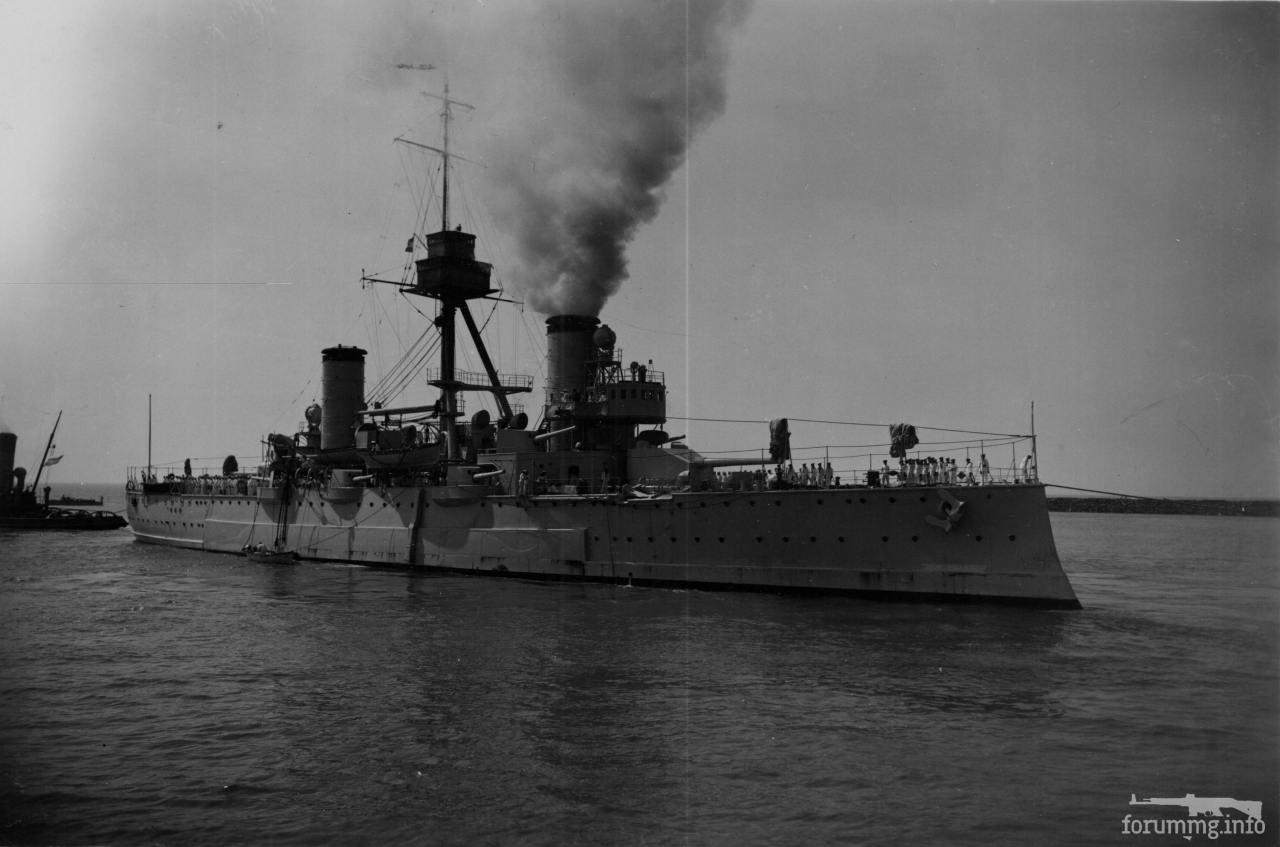 124823 - Аргентинский броненосный крейсер Pueyrredon, февраль 1938 г.