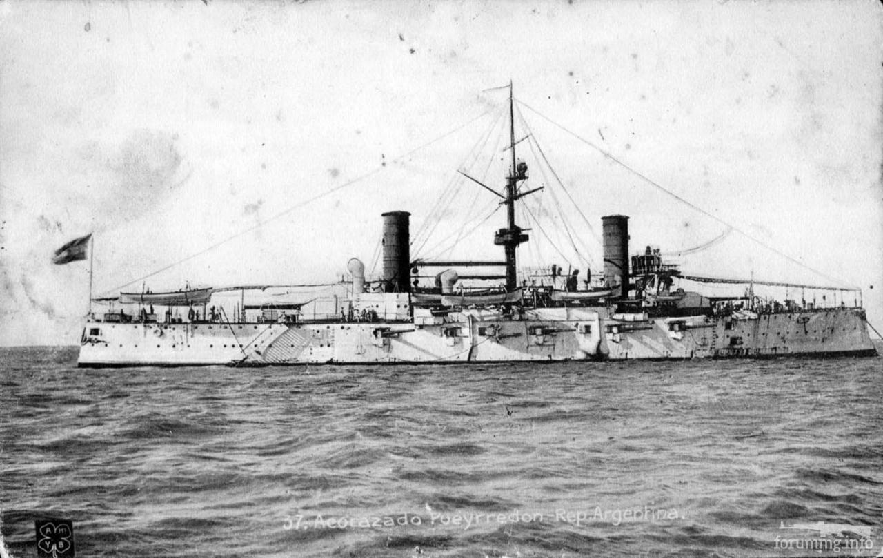 124827 - Аргентинский броненосный крейсер Pueyrredon