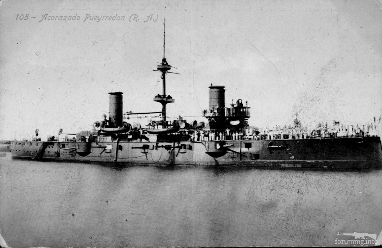 124830 - Аргентинский броненосный крейсер Pueyrredon