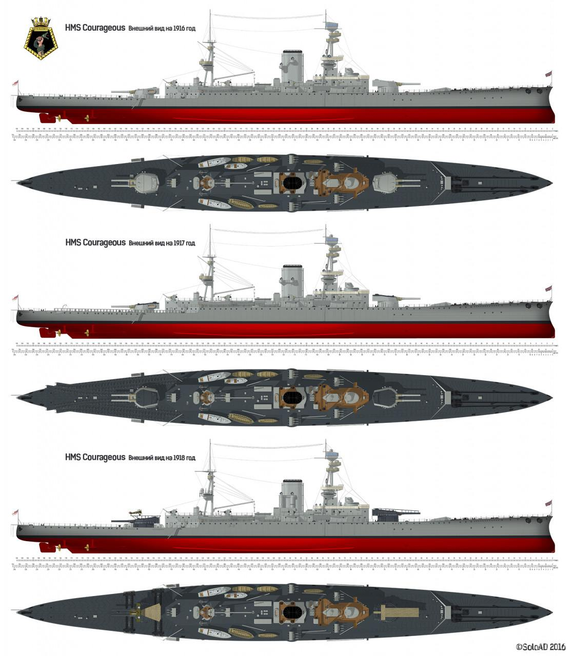 125726 - Броненосцы, дредноуты, линкоры и крейсера Британии