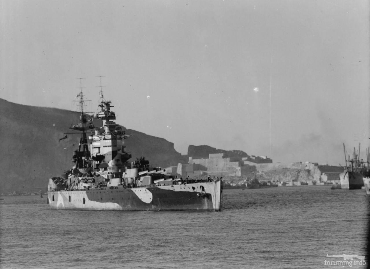 125923 - Линкор HMS Nelson на рейде Мерс-эль-Кебир.