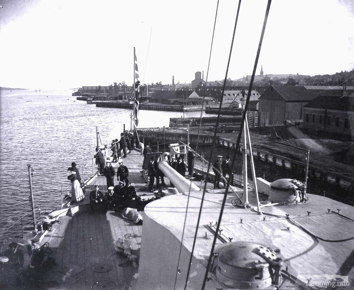 126442 - Броненосный крейсер HMS Drake в Галифаксе, 1905 г.