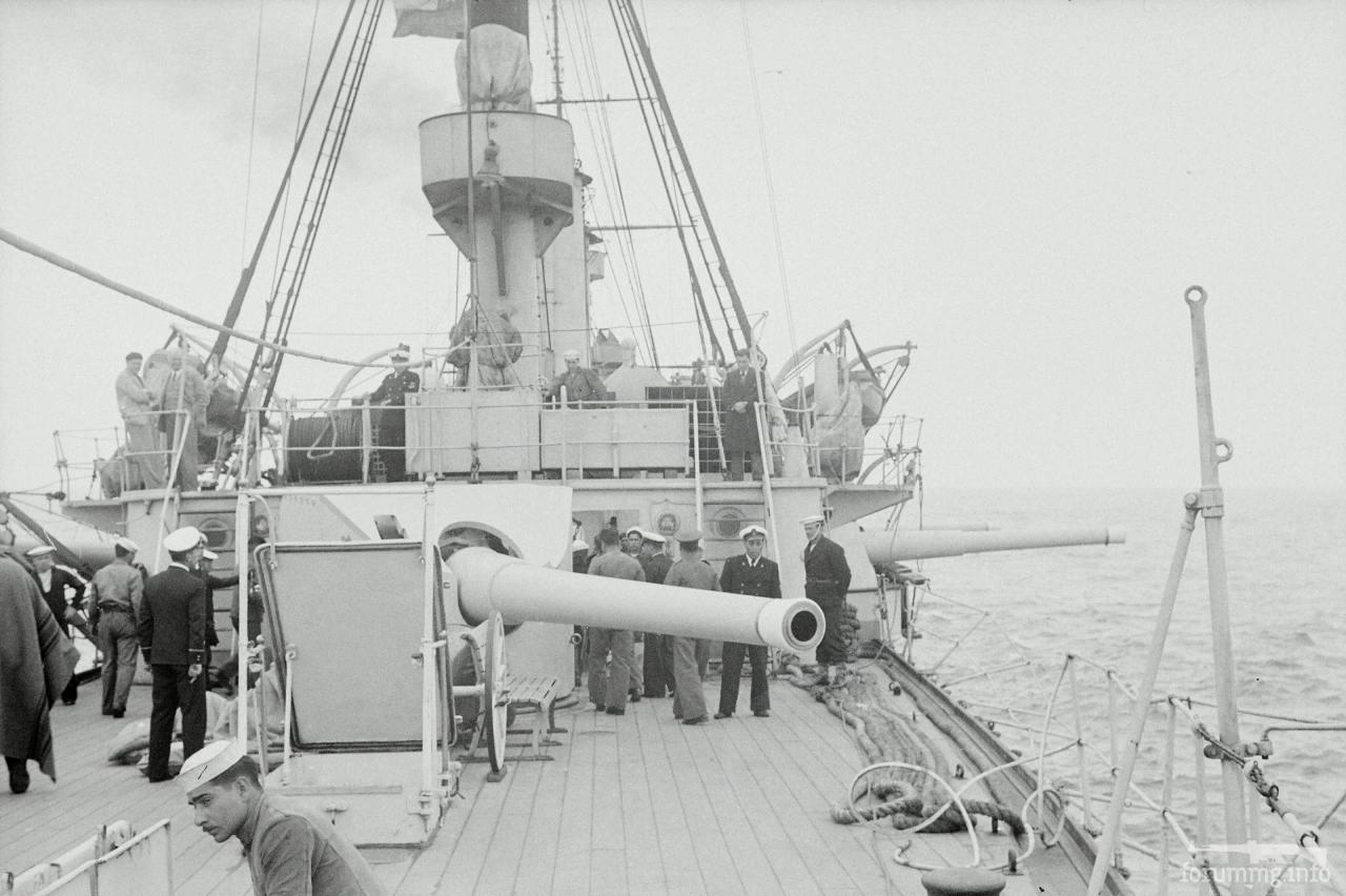 126529 - Кормовое 8-дюймовое/40 калибров орудие (пр-во Armstrong Whitworth на экспорт) чилийского бронепалубного крейсера Blanco Encalada.