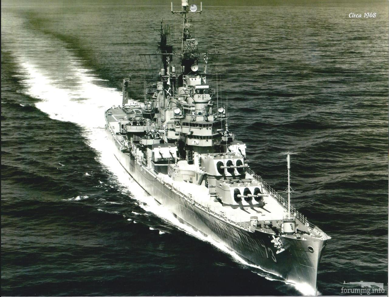 129588 - Тяжелый крейсер USS Saint Paul (CA-73), 1968 г.