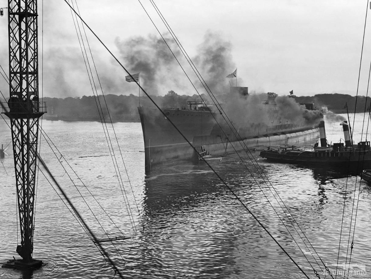 129589 - Спуск на воду линейного крейсера HMS Hood, 22 августа 1918 г.