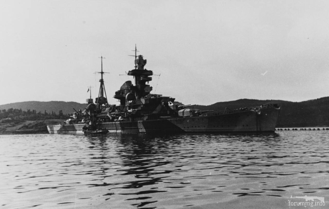 129614 - Тяжелый крейсер Admiral Hipper в Норвегии.