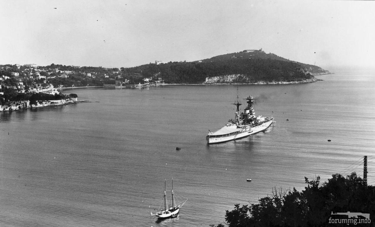 133151 - Линкор HMS Ramillies в бухте Вильфранш-сюр-Мер, 1935 г.