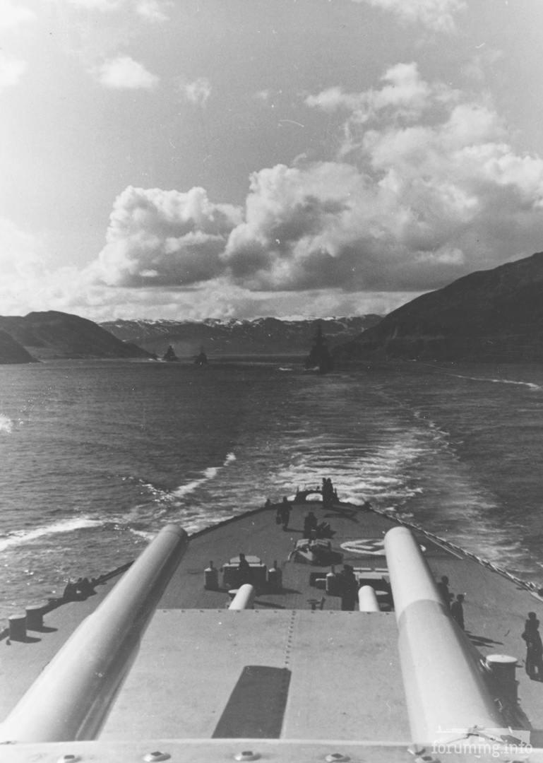 134246 - Операция Rösselsprung - линкор Tirpitz и идущие за ним тяжелые крейсера Hipper и Admiral Scheer, 5 июля 1942 г.