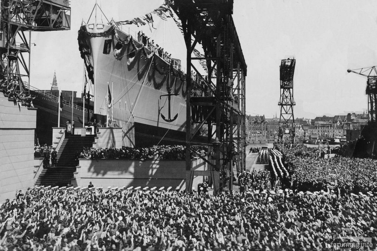 134253 - Спуск на воду тяжелого крейсера Prinz Eugen, 22 августа 1938 г.