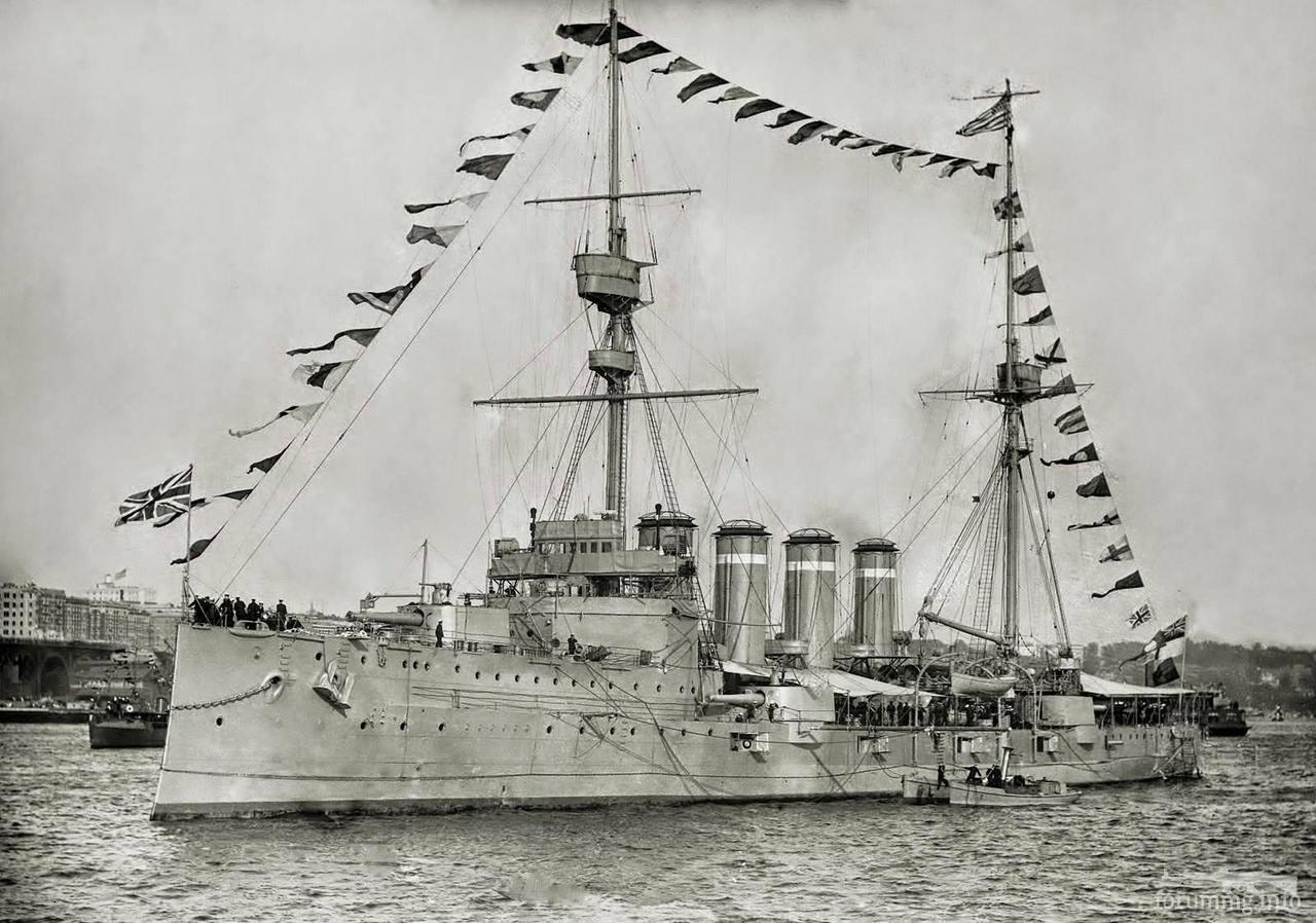134254 - Броненосный крейсер HMS Duke of Edinburgh, 1909 г.