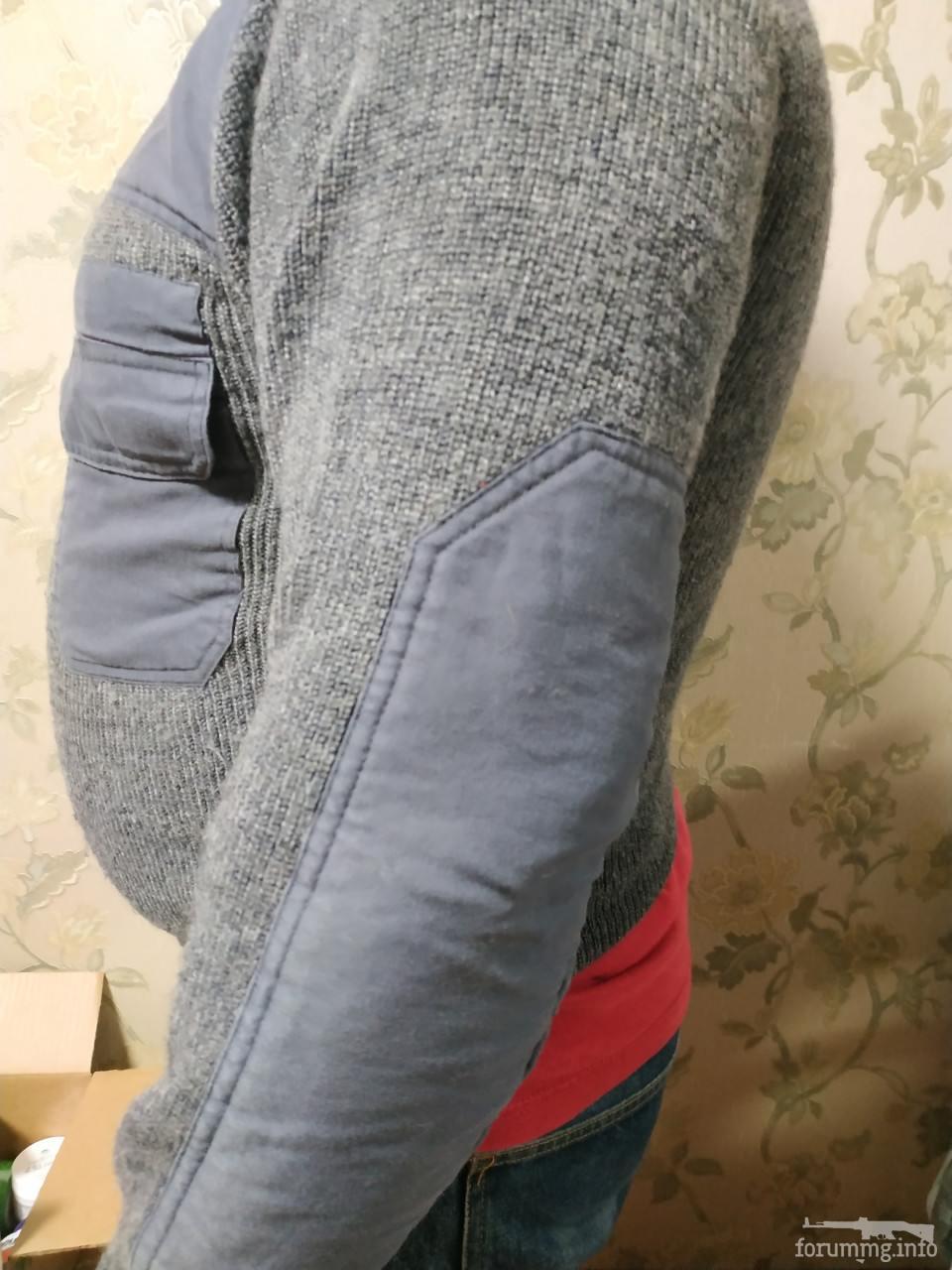 136474 - Светер в мілітарі стилі сірого кольору