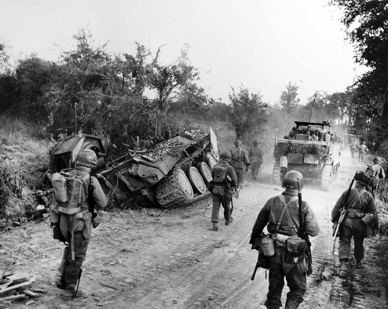 """13649 - Уничтоженный Pz.Kpfw.V """"Panther"""", Франция, 1944 г."""