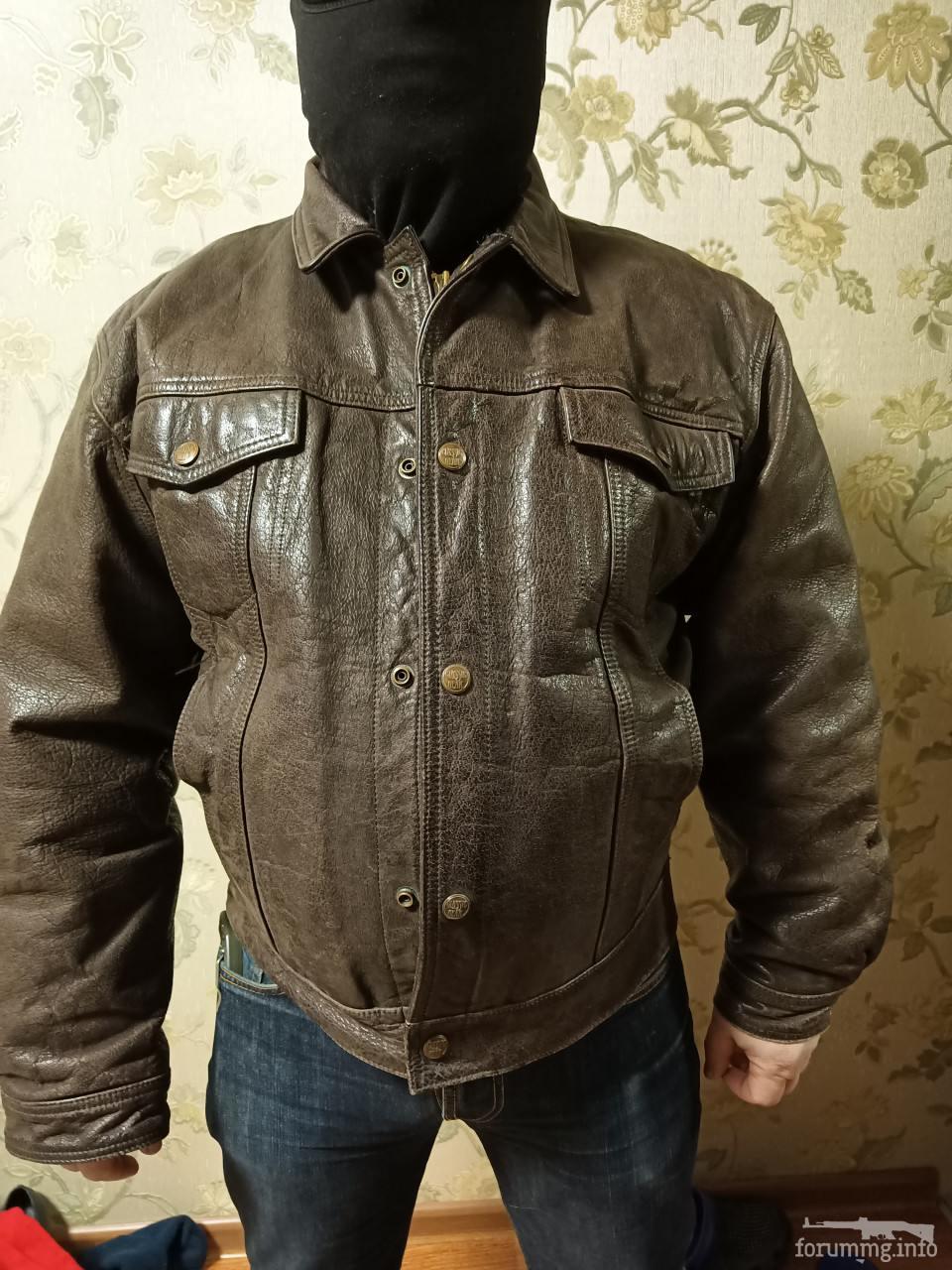 136509 - Шкіряна куртка коричневого кольору