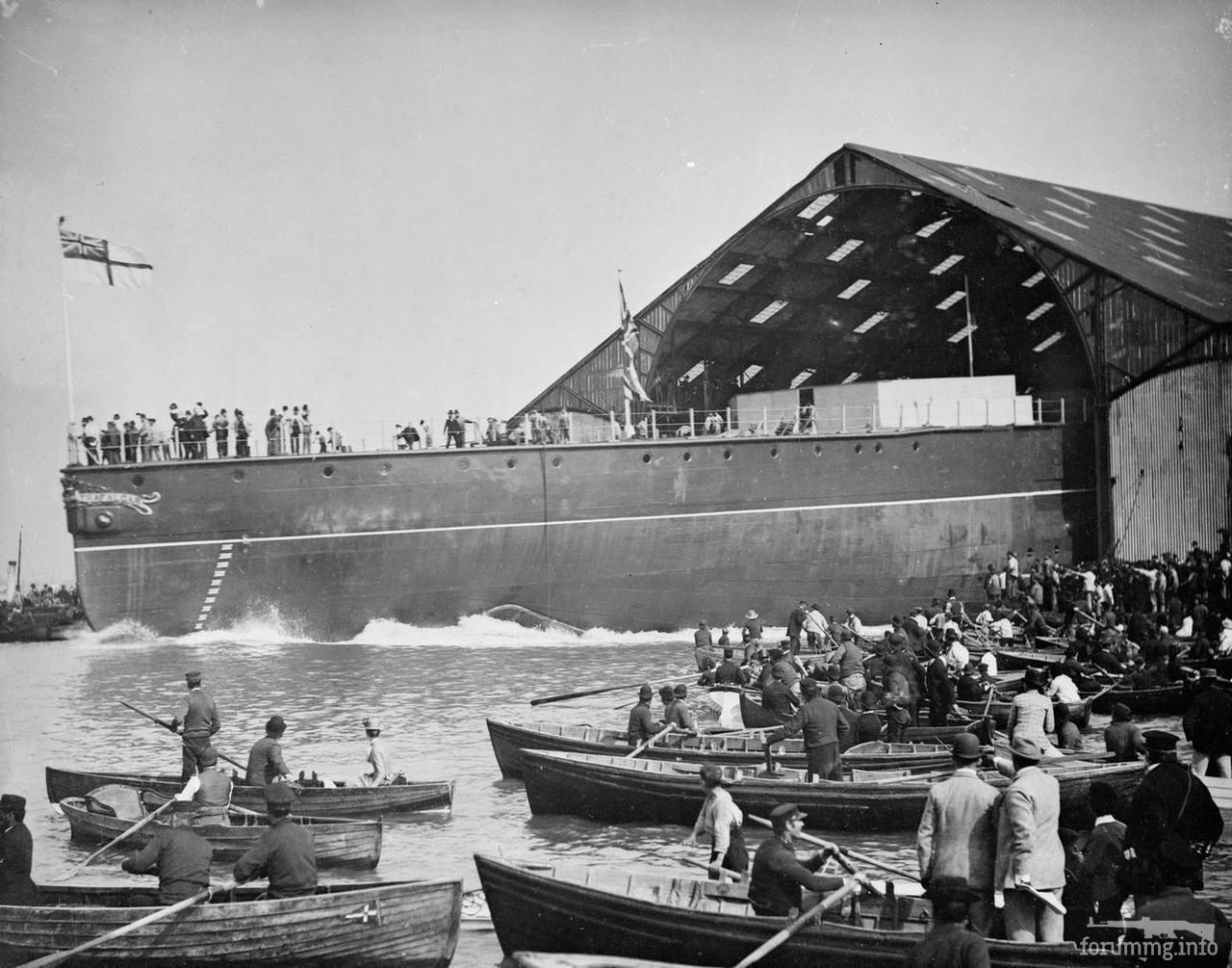 138063 - Спуск на воду броненосца HMS Trafalgar в Портсмуте, 20 сентября 1887 г.