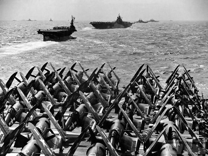 15362 - Военное фото 1941-1945 г.г. Тихий океан.
