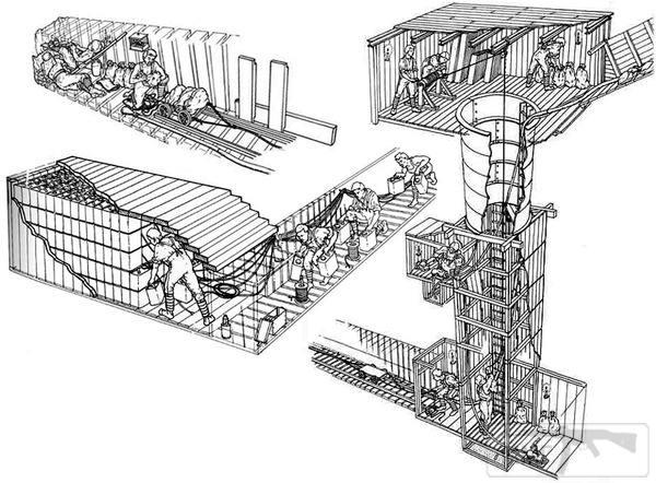16491 - Приемы работы саперов в минных шахтах Мессина.