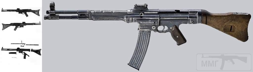 1727 - Sturmgewehr Haenel / Schmeisser MP 43MP 44 Stg.44 - прототипы, конструкция история