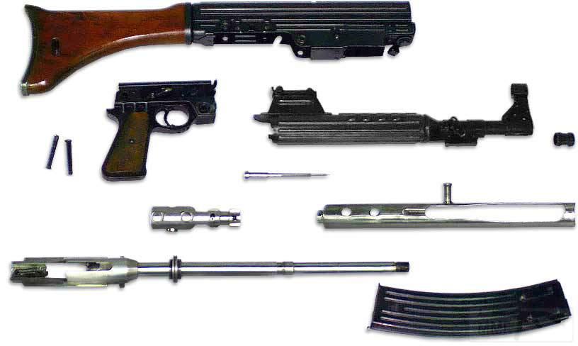 1763 - Sturmgewehr Haenel / Schmeisser MP 43MP 44 Stg.44 - прототипы, конструкция история