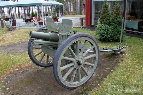 17647 - Колеса и лафет на полевую пушку обр 1927 года