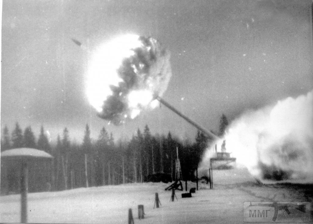 18116 - Выстрел 420-мм пушки С-103 на полигоне