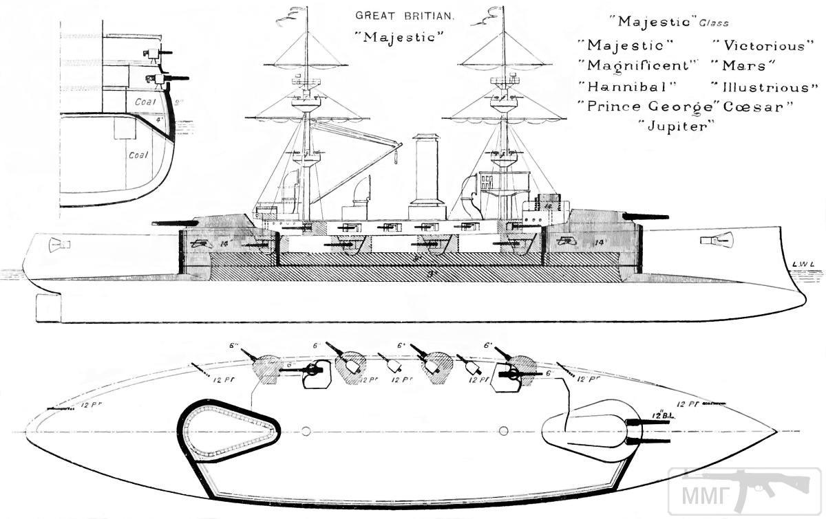 18713 - Броненосцы, дредноуты, линкоры и крейсера Британии