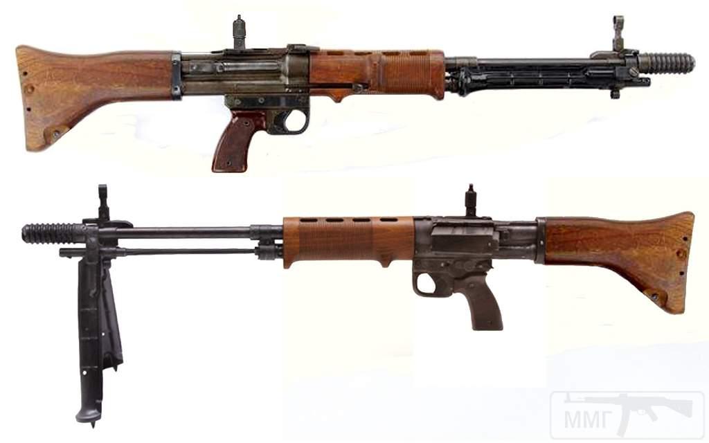 1885 - Fallschirmjдgergewehr 42, 2nd model- Germany - produced 1944-1945 Caliber 7.92mm Kurz - 10 or 20 round box magazine - 900 rpm