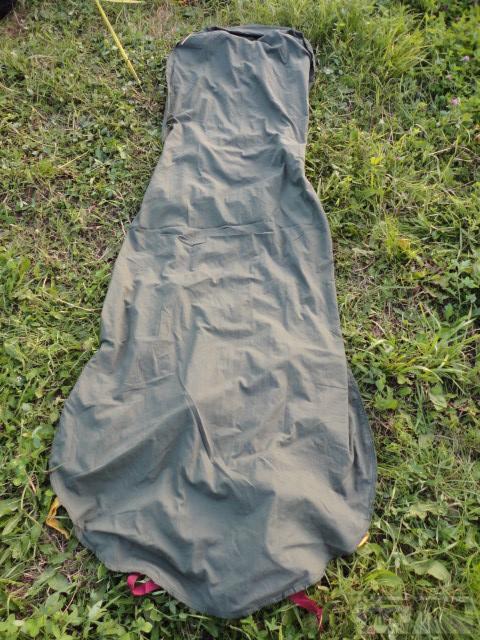 19566 - Простыня вкладыш в спальный мешок армии Великобритании.Олива,песок,модульная система,зима,лето.