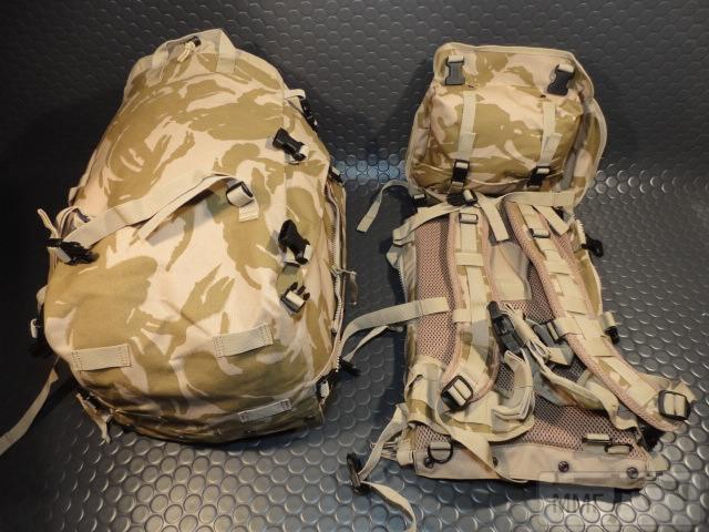 21428 - Модульный рюкзак армии Великобритании Bowman Manpack Radio Carrier Desert DPM 45 литров . Новый