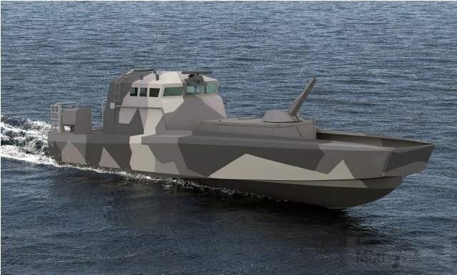2174 - Возможное размещение 120-мм контейнеризированной минометной системы Patria Nemo Container на катере