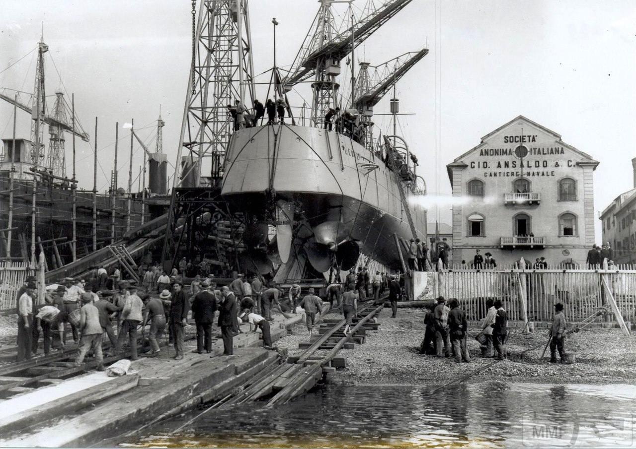 25050 - Leone перед спуском на воду 1 октября 1923 г.