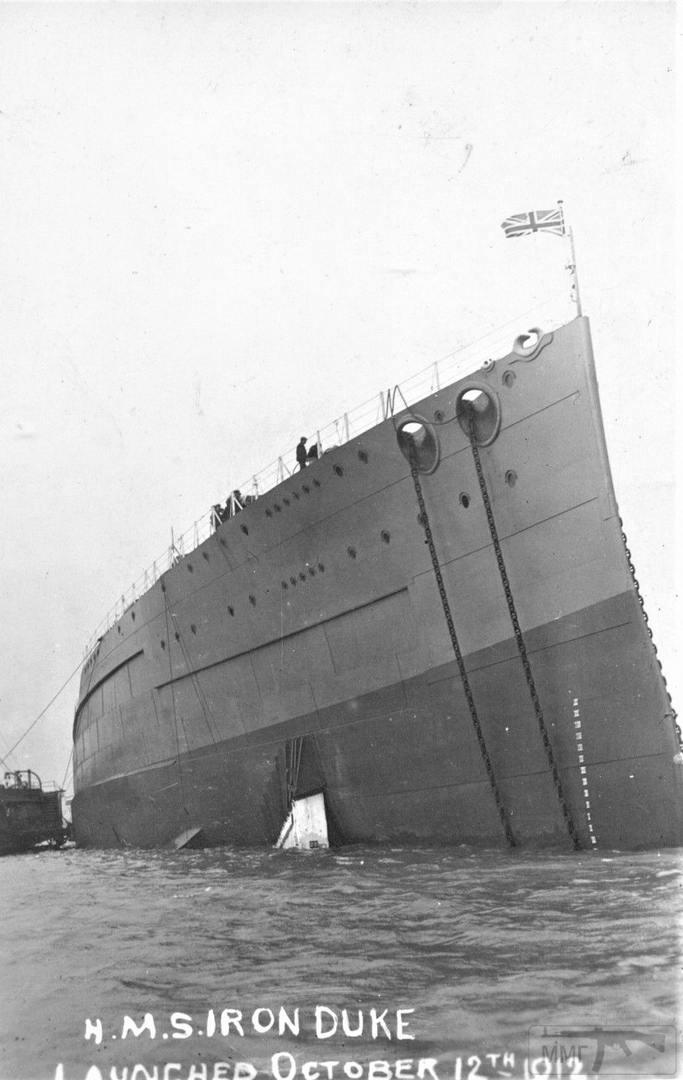 30882 - HMS Iron Duke после спуска на воду 12 октября 1912 г.