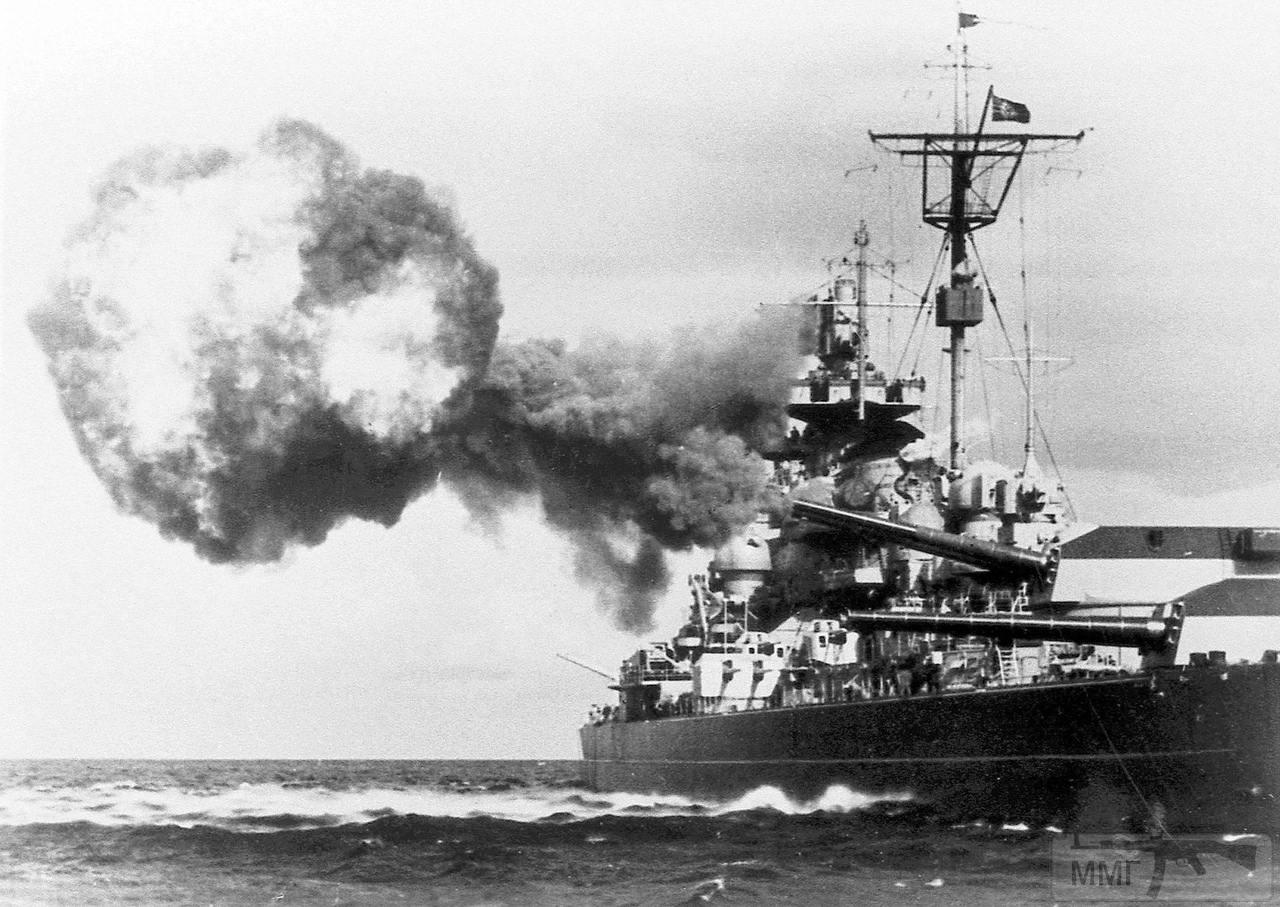 32327 - Учебная стрельба линкора Tirpitz, 1941 г.